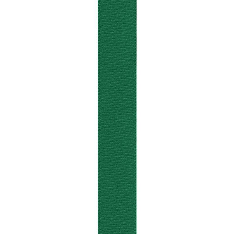 Ruban satin double face vert 15mm