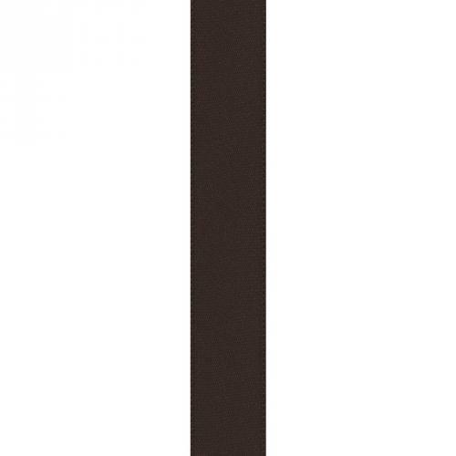 Ruban satin double face chocolat 15mm