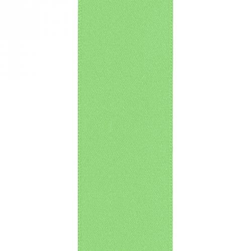 Ruban satin double face vert pomme 50mm