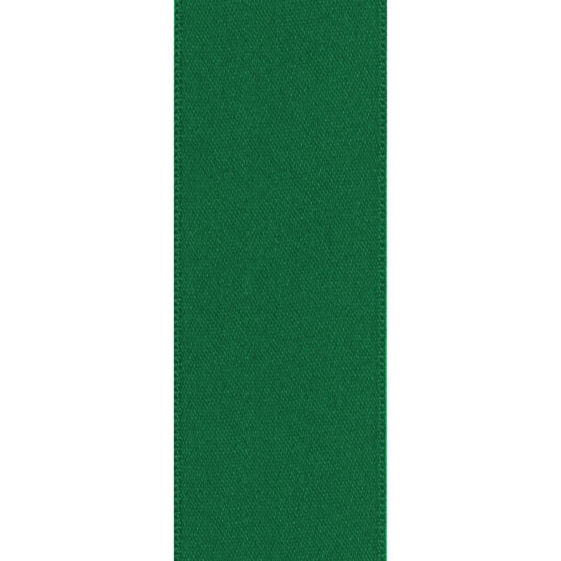 Ruban satin double face vert bouteille 50mm