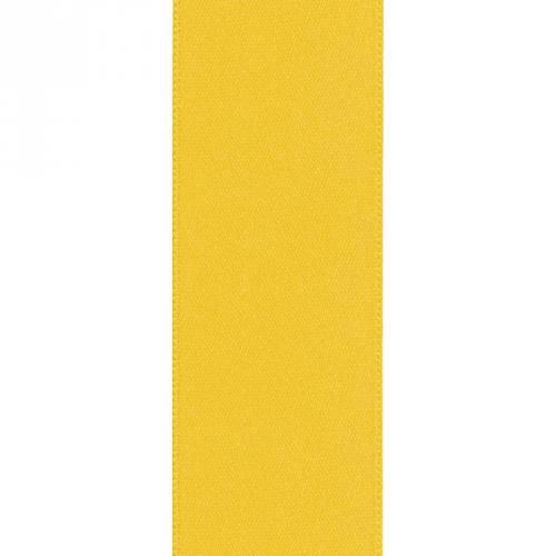 Ruban satin double face jaune 50mm