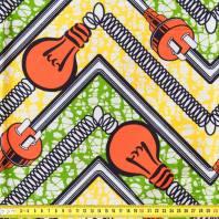 Wax - Tissu africain motif ampoule 1