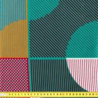 Wax - Tissu africain motif lignes et points