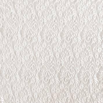 Dentelle extensible ivoire motif champêtre