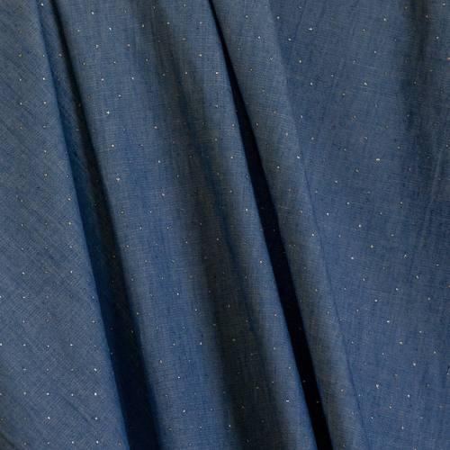 Tissu jean pailleté
