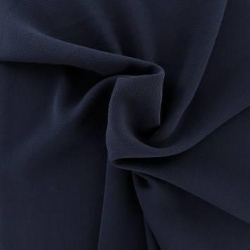 Tissu crêpe extensible bleu marine