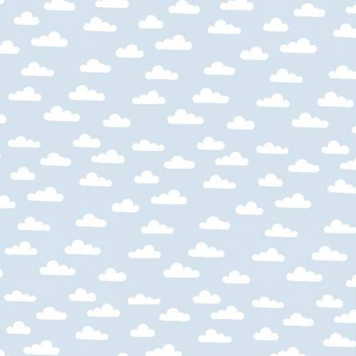 Popeline bleu pastel nuage
