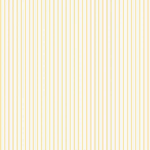 Popeline rayée jaune pastel