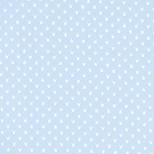 Popeline bleu pastel couronne