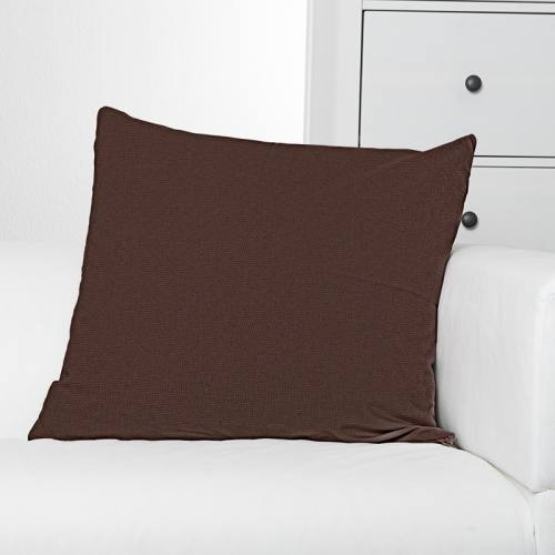 Toile polycoton marron grande largeur
