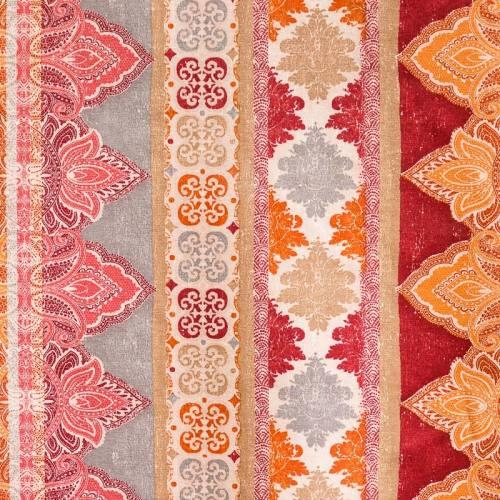 Toile polycoton imprimée arabesque et mandala grande largeur