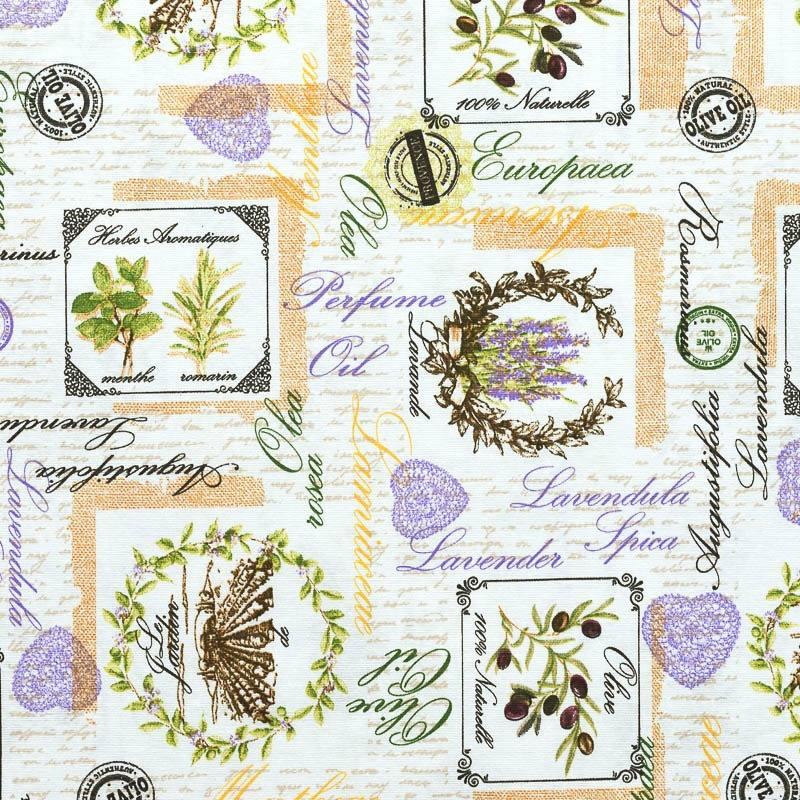 toile polycoton herbe aromatique grande largeur pas cher tissus price. Black Bedroom Furniture Sets. Home Design Ideas
