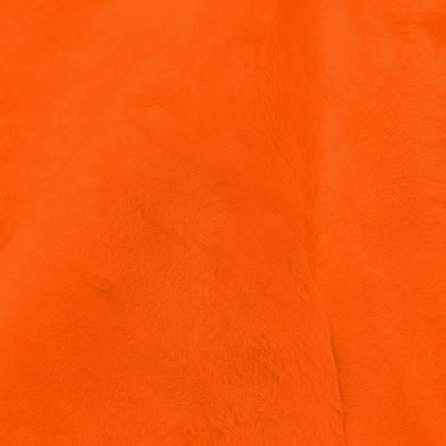 Fausse fourrure unie orange