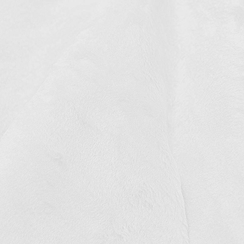 Fausse fourrure unie blanche