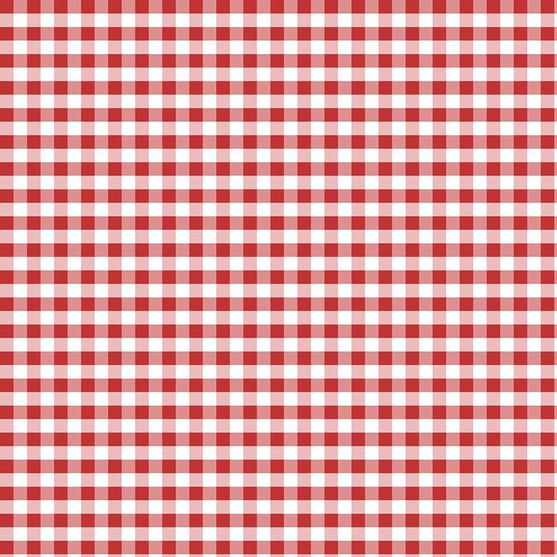 Coton vichy rouge 10 mm