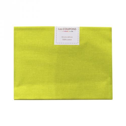 Coupon 40x60 cm coton uni anis