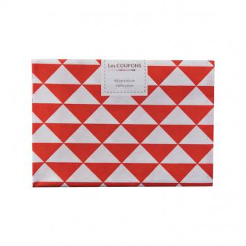 Coupon 40x60 cm coton rouge vintage