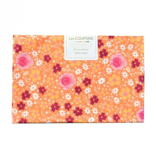 Coupon 40x60 cm coton anisley orange