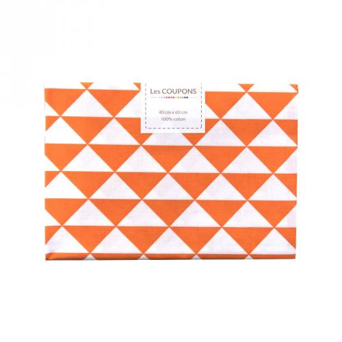 Coupon 40x60 cm coton orange vintage