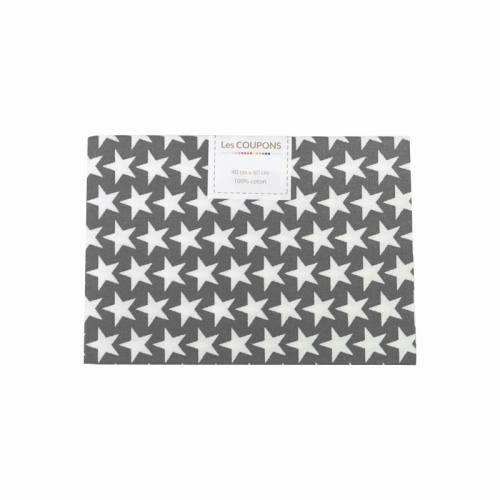 Coupon 40x60 cm coton gris souris étoiles monroe