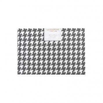 Coupon 40x60 cm coton gris souris pied de poule