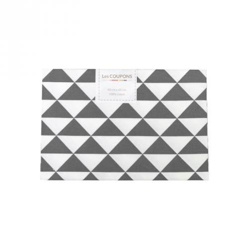 Coupon 40x60 cm coton gris souris vintage