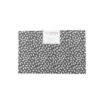 Coupon 40x60 cm coton gris souris grains de riz