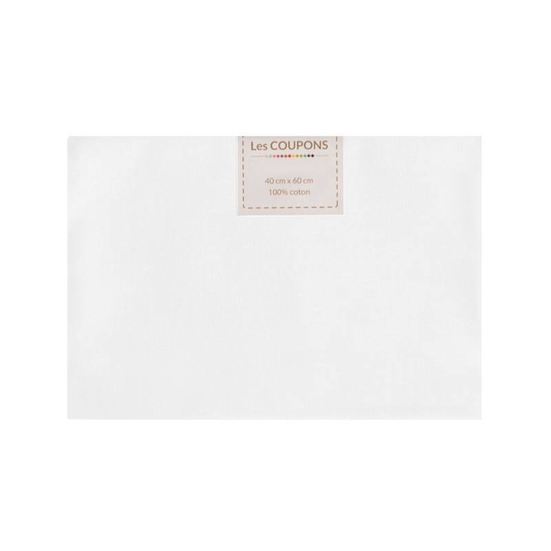 Coupon 40x60 cm coton blanc