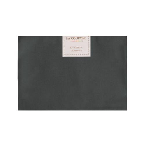 Coupon 40x60 cm coton anthracite