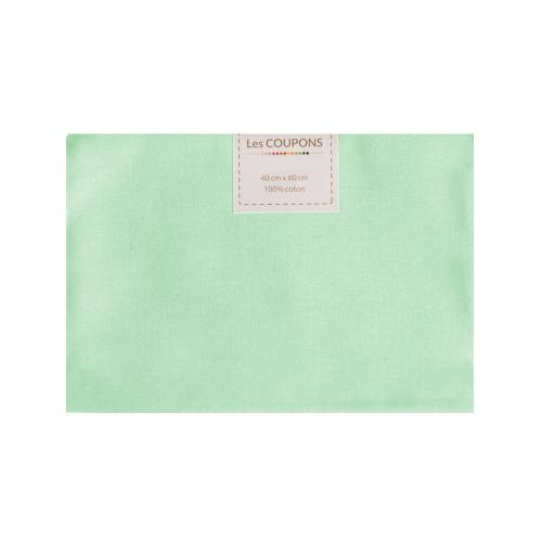 Coupon 40x60 cm coton vert d'eau