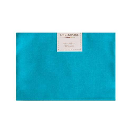 Coupon 40x60 cm coton bleu