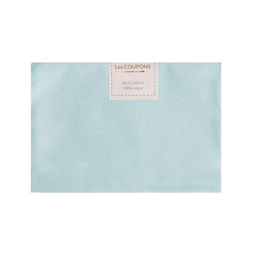 Coupon 40x60 cm coton bleu pastel