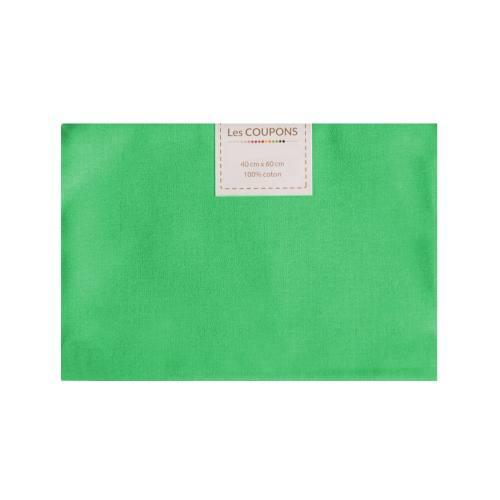 Coupon 40x60 cm coton vert prairie