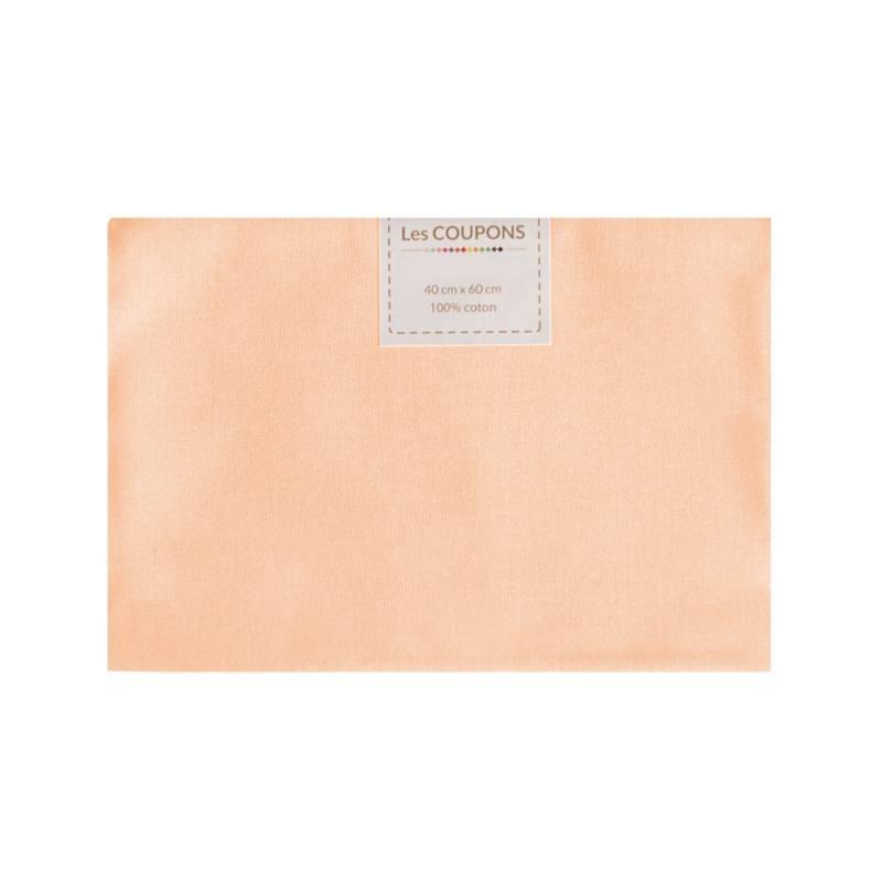 coupon 40x60 cm coton saumon pas cher tissus price. Black Bedroom Furniture Sets. Home Design Ideas