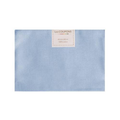 Coupon 40x60 cm coton bleu clair