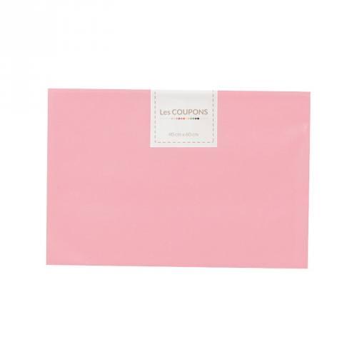 Coupon 40x60 cm coton rose clair