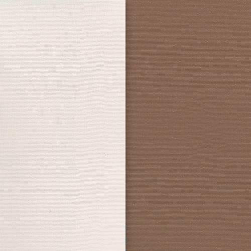 Toile polycoton marron envers gomme