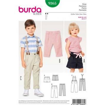 Patron Burda 9365 Pantalon Taille : 92-122 cm