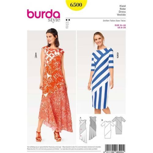 Patron Burda 6500 : Robe Taille 34-46