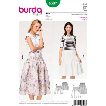 Patron Burda 6507 Jupe Taille 34-46