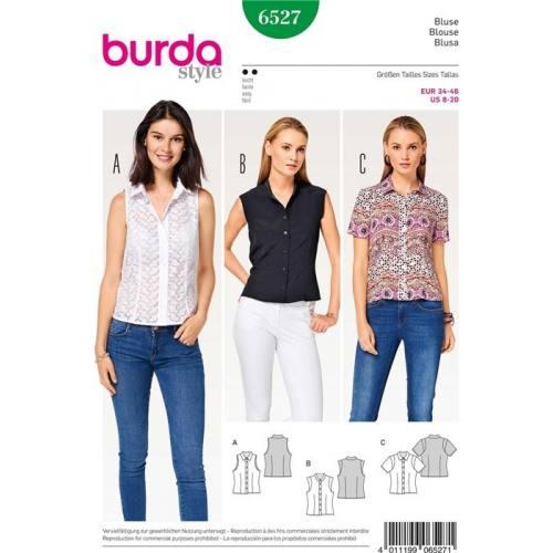 Patron Burda 6527 : Blouse Taille 34-46