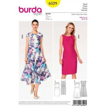 Patron Burda 6529 Robe Taille 34-44