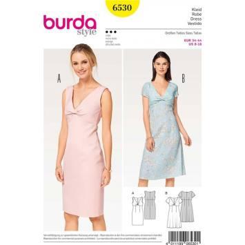 Patron Burda 6530 Robe Taille 34-44