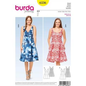 Patron Burda 6536 Robe Taille 32-44