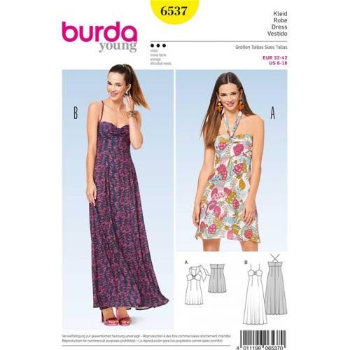 Patron Burda 6537 : Robe Taille 32-42