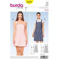 Patron Burda 6538 Robe Taille 32-44
