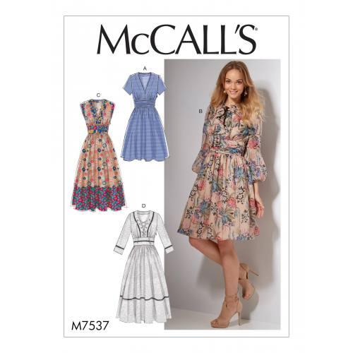 Patron Mc Call's M7537 : Robes pour jeune femme 34-42