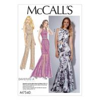 Patron Mc Call's M7540 Haut, Robe, Jupe et Combinaison pour jeune femme 34-42