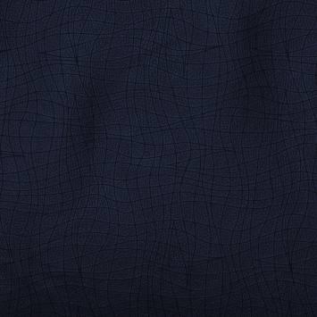 Simili cuir ligne graphique bleu marine