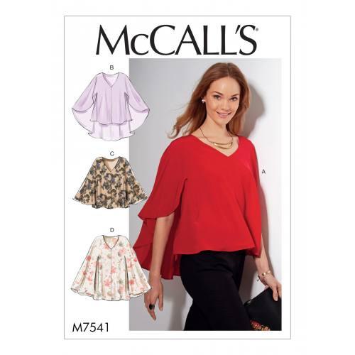 Patron Mc Call's M7541 : Hauts pour jeune femme 44-52